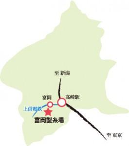 富岡製糸場地図