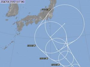 気象庁,米軍,台風17号予想進路図